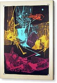 Ls1974ny001  5-14 Luz Amarilla 15.75x21.25 Acrylic Print by Alfredo Da Silva