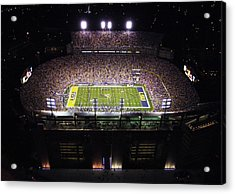 Lsu Aerial View Of Tiger Stadium Acrylic Print by Louisiana State University