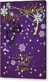 Lsu Tigers Christmas Card Acrylic Print by Joe Hamilton