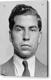 Lucky Luciano 1896-1962 Was Imprisoned Acrylic Print by Everett
