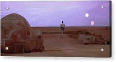 Luke Double Sunset Acrylic Print by Mitch Boyce