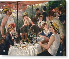Luncheon Of The Boating Party By Renoir Acrylic Print by Pierre-Auguste Renoir