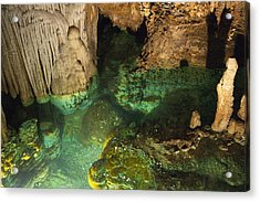 Luray Caverns - Wishing Well - Virginia Acrylic Print by Brendan Reals