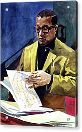 Lush Life Billy Strayhorn Acrylic Print by David Lloyd Glover