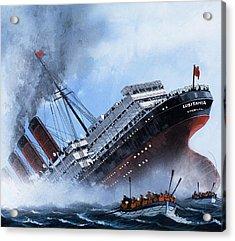 Lusitania Acrylic Print by Mike Tregenza