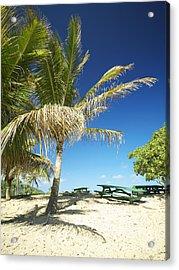 Lydgate Beach On Kauai Acrylic Print by Kicka Witte - Printscapes
