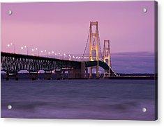 Mackinac Bridge Sunset Acrylic Print by James Marvin Phelps