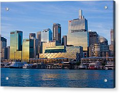 Macquarie Sunset Acrylic Print by Charles Warren