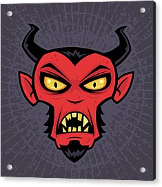 Mad Devil Acrylic Print by John Schwegel