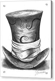 Mad Hat Acrylic Print by J Ferwerda