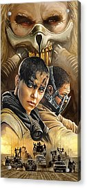 Mad Max Fury Road Artwork Acrylic Print by Sheraz A