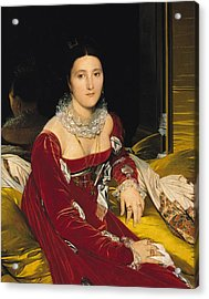 Madame De Senonnes Acrylic Print by Ingres