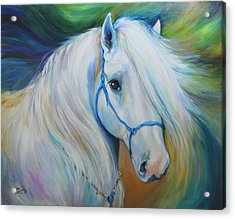 Maddie The Angel Horse Acrylic Print by Marcia Baldwin