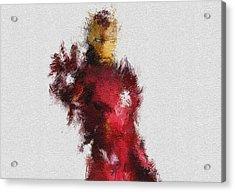 Made Of Iron Acrylic Print by Miranda Sether