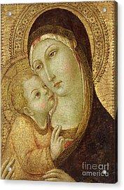 Madonna And Child Acrylic Print by Ansano di Pietro di Mencio