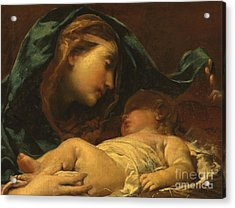 Madonna And Child Acrylic Print by Giuseppe Maria Crespi