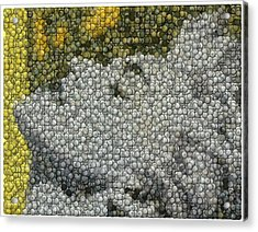 Madonna True Blue Material Girl Coins Mosaic Acrylic Print by Paul Van Scott