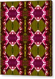 Magenta Crystal Pattern Acrylic Print by Amy Vangsgard