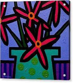 Magenta Flowers Acrylic Print by John  Nolan