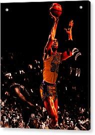 Magic Johnson Lean Back II Acrylic Print by Brian Reaves