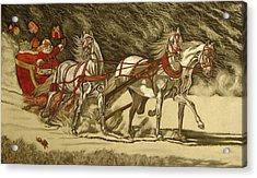 Magical Christmas Acrylic Print by Melita Safran