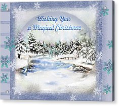 Magical Christmas Acrylic Print by Susan Kinney