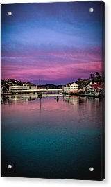 Magical Colors In Mandal Acrylic Print by Mirra Photography