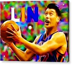 Magical Jeremy Lin Acrylic Print by Paul Van Scott