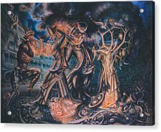 Magicians Competition Acrylic Print by De Es Schwertberger