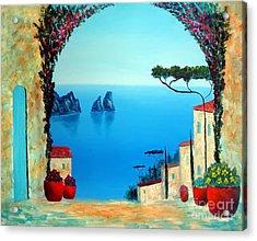 Magnificent Capri Acrylic Print by Larry Cirigliano