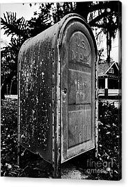Mail Box Acrylic Print by David Lee Thompson