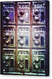 Mail Boxes Acrylic Print by Skip Nall