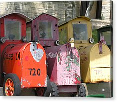 Mail Boxes Wi Acrylic Print by Diane Greco-Lesser