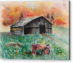 Mail Pouch Barn West Virginia 3 Acrylic Print by Paul Cubeta