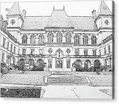 Maison Internationale Paris Acrylic Print by Subesh Gupta