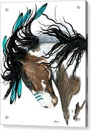 Majestic Turquoise Acrylic Print by AmyLyn Bihrle