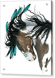 Majestic Turquoise Horse Acrylic Print by AmyLyn Bihrle