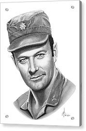 Major Frank Burns Acrylic Print by Murphy Elliott