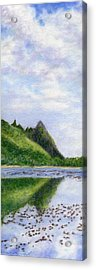 Makana Reflection Acrylic Print by Kenneth Grzesik