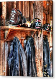 Maker's Mark Firehouse Acrylic Print by Mel Steinhauer