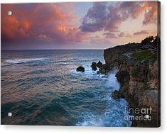 Makewehi Sunset Acrylic Print by Mike  Dawson