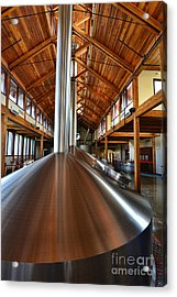 Making Beer Acrylic Print by Keith Ducker