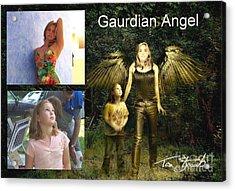 making Guardian Angel Acrylic Print by Tom Straub