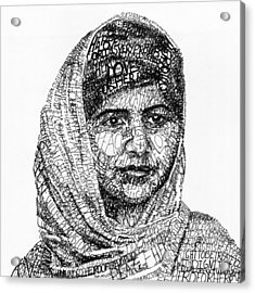 Malala Yousafzai Acrylic Print by Michael  Volpicelli