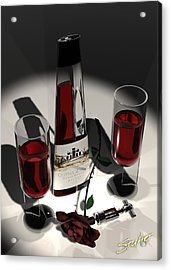 Malbec Wine - Romance Expectations Acrylic Print by Stuart Stone