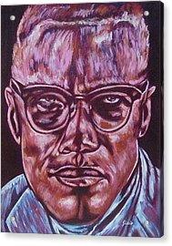 Malcolm Acrylic Print by Shahid Muqaddim