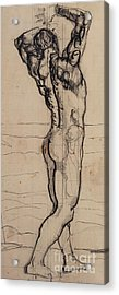 Male Act   Study For The Truth Acrylic Print by Ferdninand Hodler