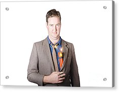 Male Business Person With Explosives In Jacket Acrylic Print by Jorgo Photography - Wall Art Gallery