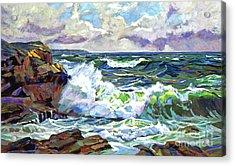 Malibu Cove Acrylic Print by David Lloyd Glover
