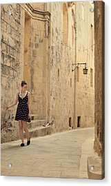 Maltese Streets Acrylic Print by Cambion Art